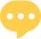 Haloed professional networking yellow chat icon