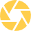 Haloed professional networking yellow video recording icon
